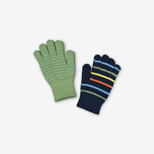Two Pack Magic Kids Gloves-Unisex-Blue-4-12y