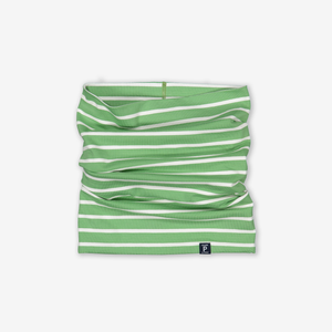 Striped Kids Neck Warmer-Unisex-Green-One size