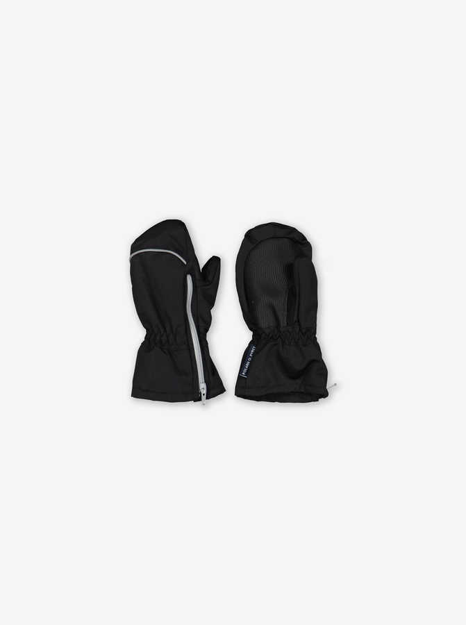 Waterproof Kids Mittens-Unisex-Black-6m-6y
