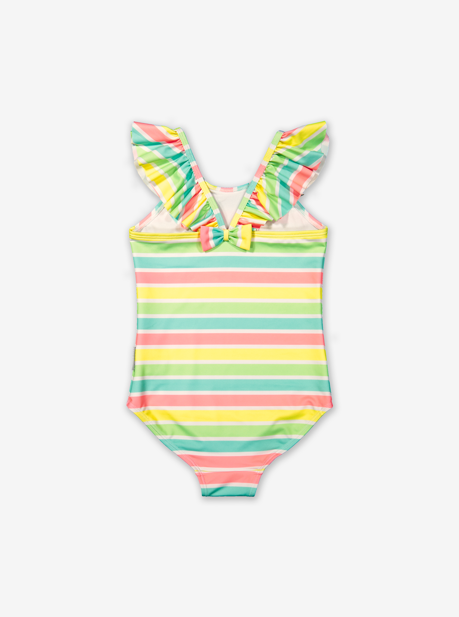Stripe swimsuit-Girl-1-6y-Pink