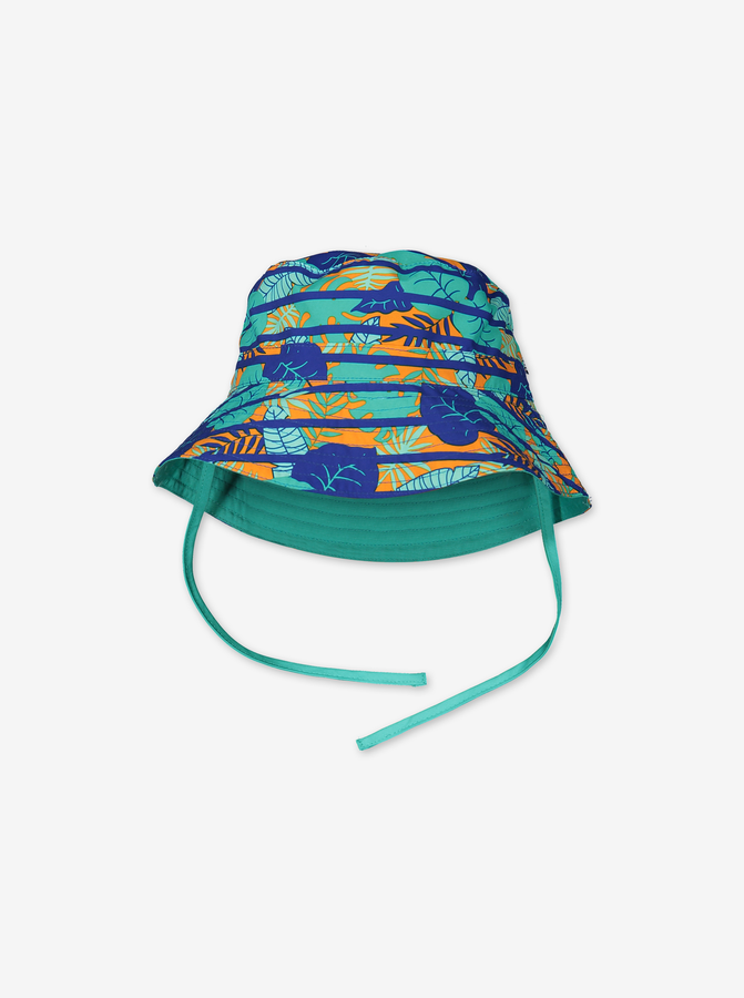 Reversible sun hat with UV protection-Unisex-9m-9y-Blue