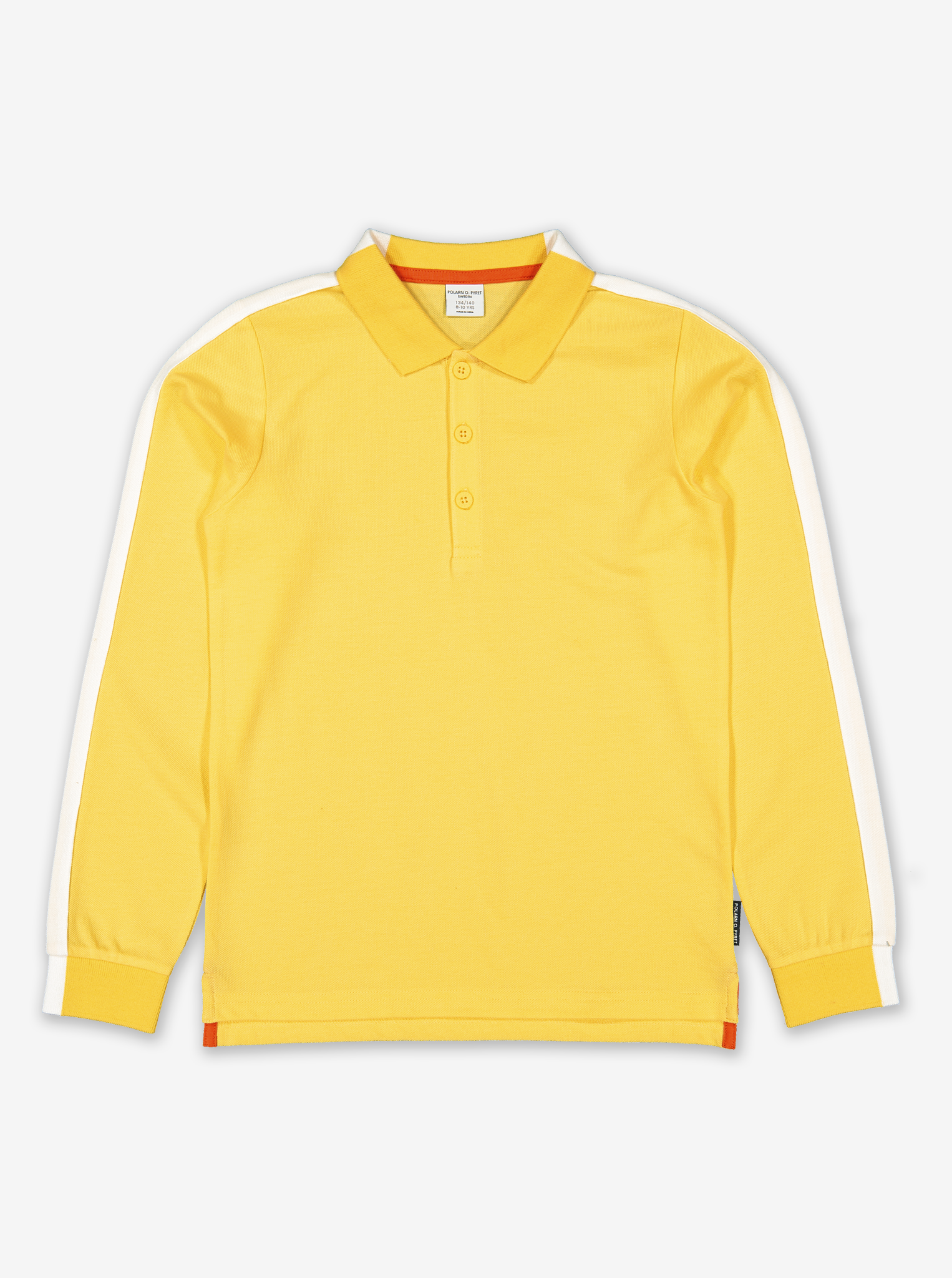 Long Sleeve Kids Polo Top-Boy-6-12y-Yellow