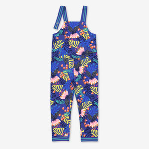 Tropical Print Kids Jumpsuit