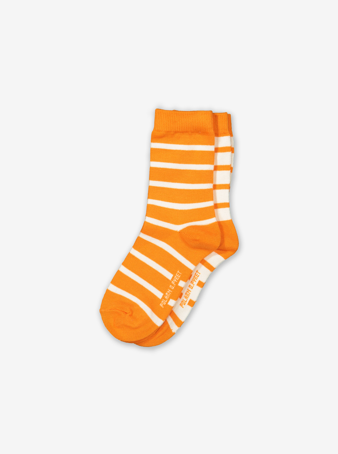 2 Pack Kids Socks-Boy-2-12y-Orange
