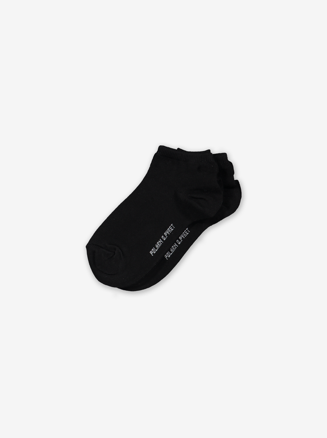 2 Pack Kids Ankle Socks-Unisex-2-12y-Black