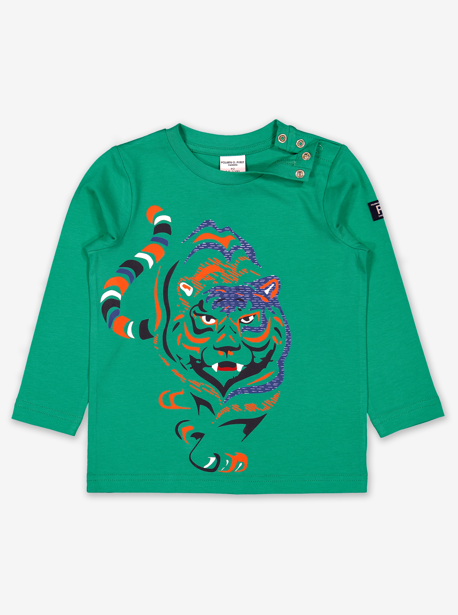 Tiger Print Kids Top-Boy-1-6y-Green
