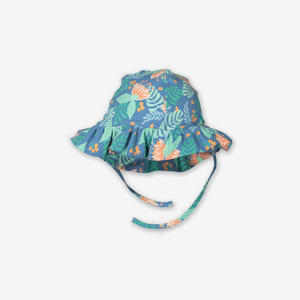 Tropical Print Baby Sun Hat-Girl-1m-2y-Turquoise