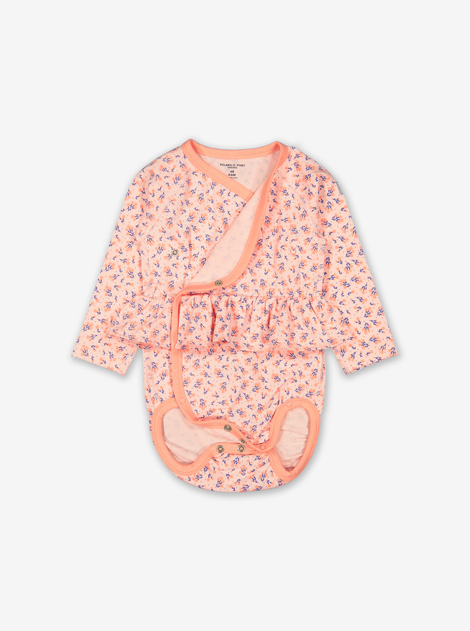 Ditsy Floral Wraparound Baby Bodysuit-Girl-0-6m-Pink