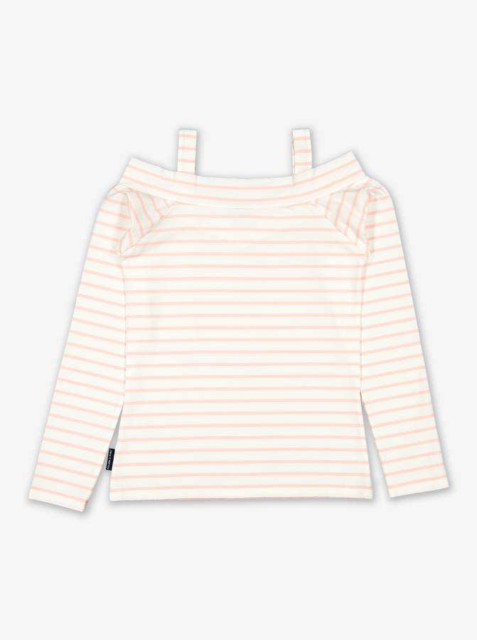 Striped Kids Top -Girl-6-12y-Pink