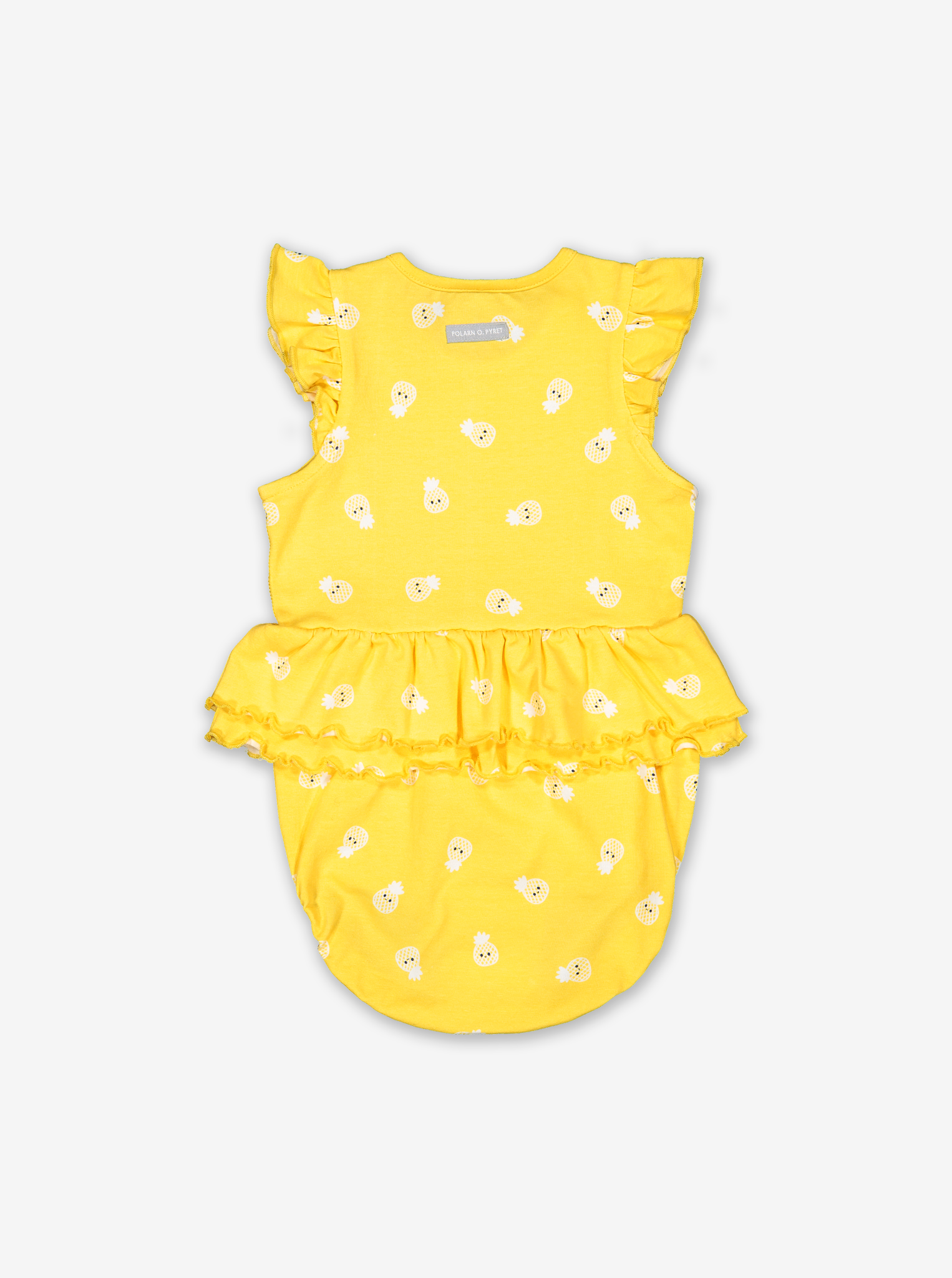 Pinapple Print Baby Bodysuit-Girl-0-1y-Yellow