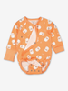 Little Lamb Wraparound Baby Bodysuit-Unisex-0-6m-Orange