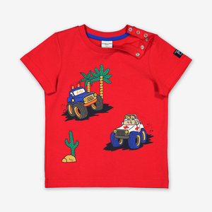 Car Print Kids T-Shirt-Boy-1-6y-Red