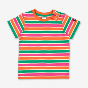 Striped Kids T-Shirt-Unisex-1-12y-Orange