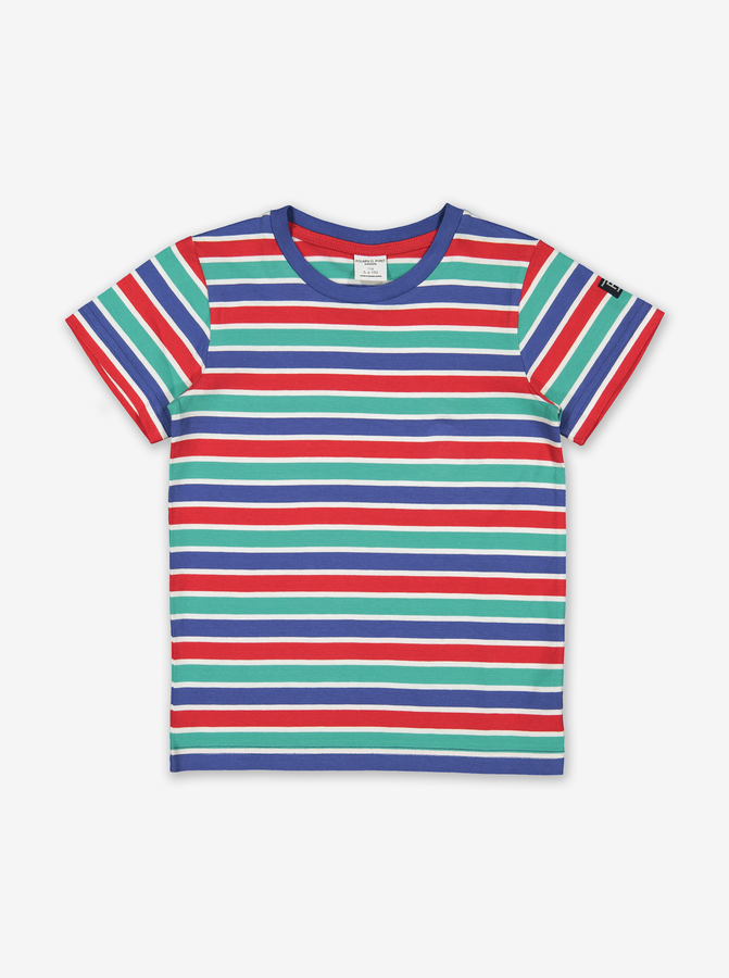 Striped Kids T-Shirt-Unisex-1-12y-Blue