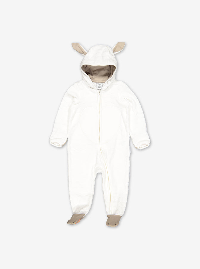 Velour Little Lamb Baby All-in-One
