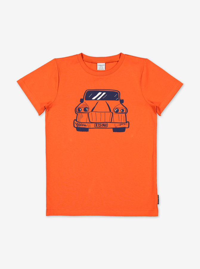 Organic Kids T-Shirt-Unisex-6-12y-Orange
