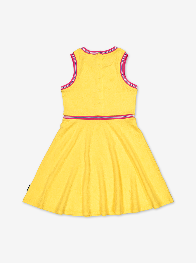 Tennis Style Kids Dress-Girl-6-12y-Yellow