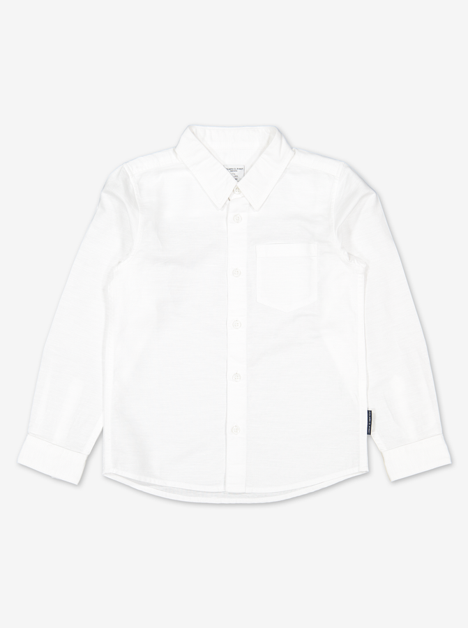 Linen Kids Shirt-Boy-1-12y-White