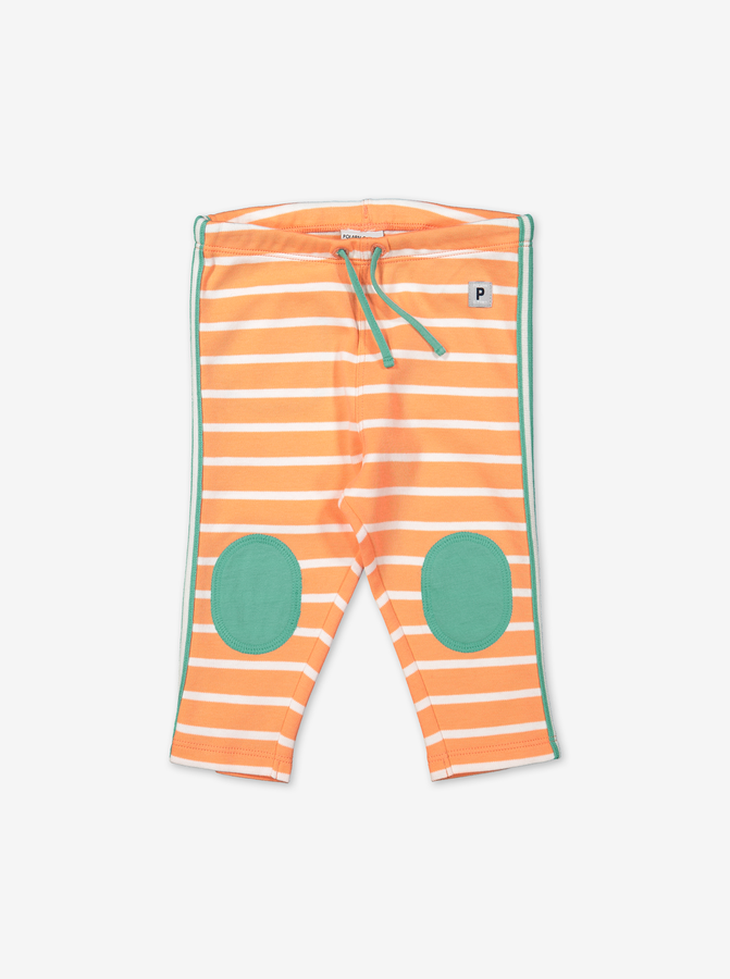 Striped Baby Trousers-Unisex-0-1y-Orange