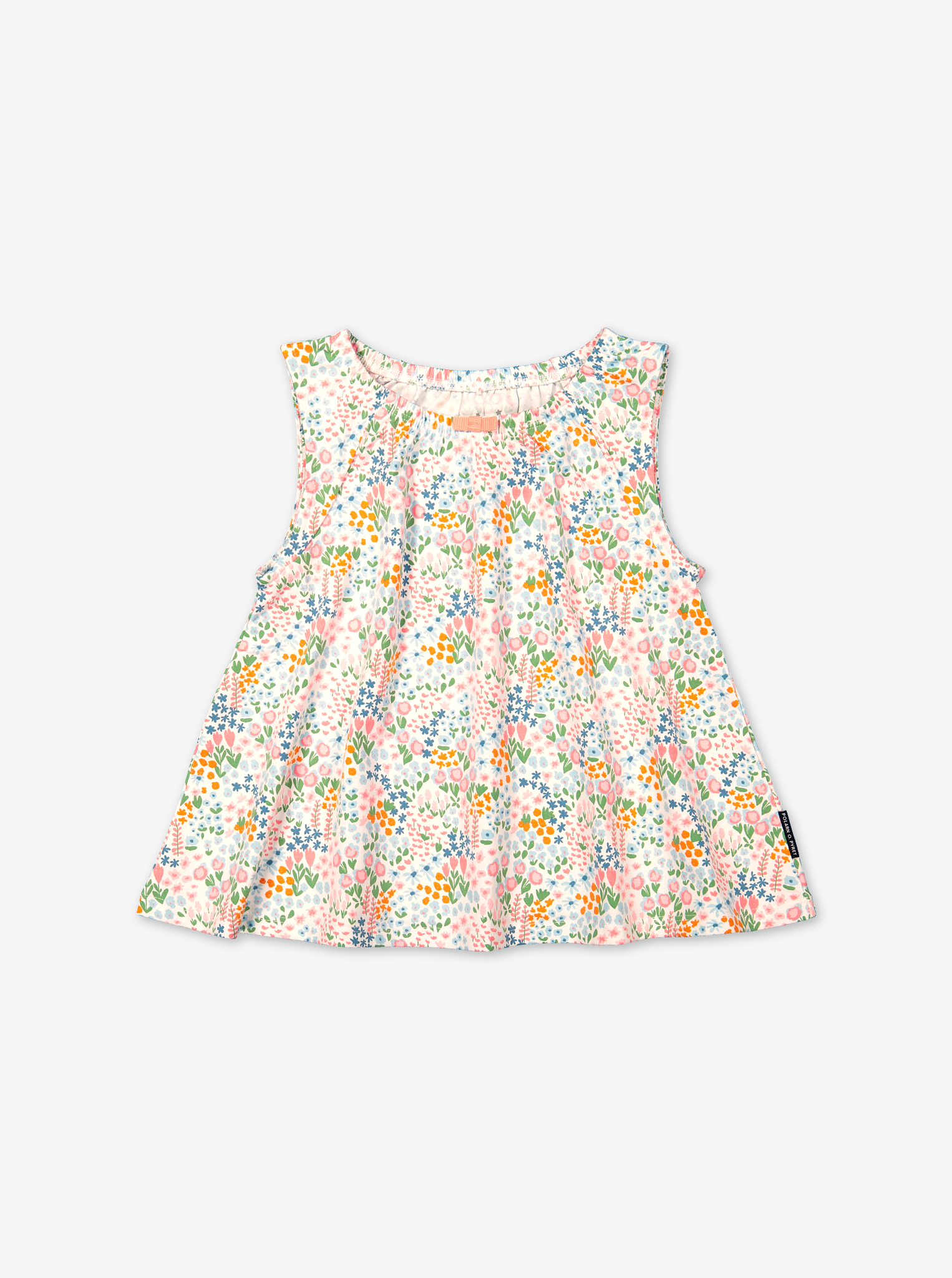 Ditsy Floral Short Kids Pyjamas-Girl-1-12y-White