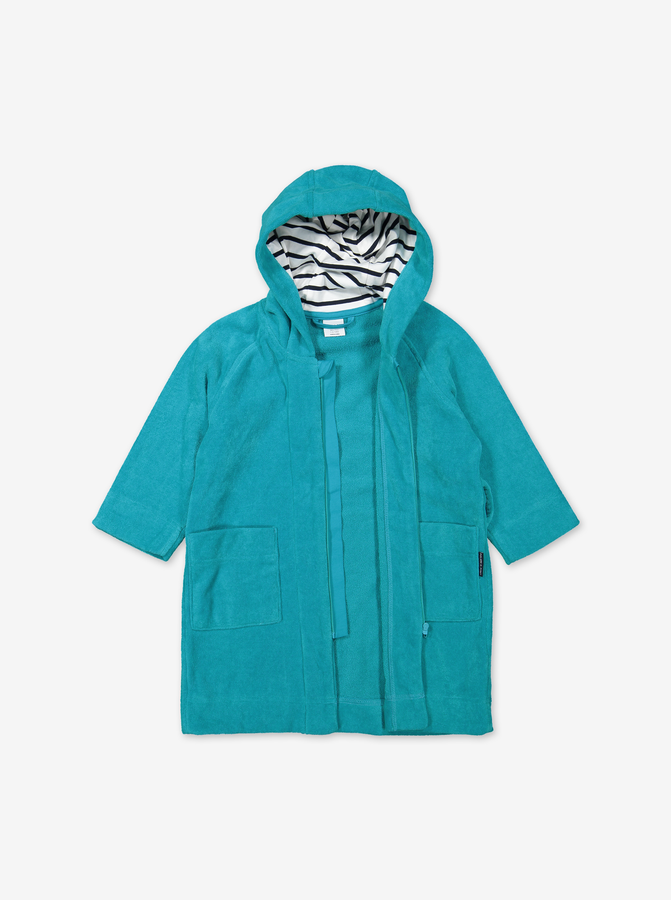 Kids Terry Bathrobe-Boy-6m-12y-Turquoise