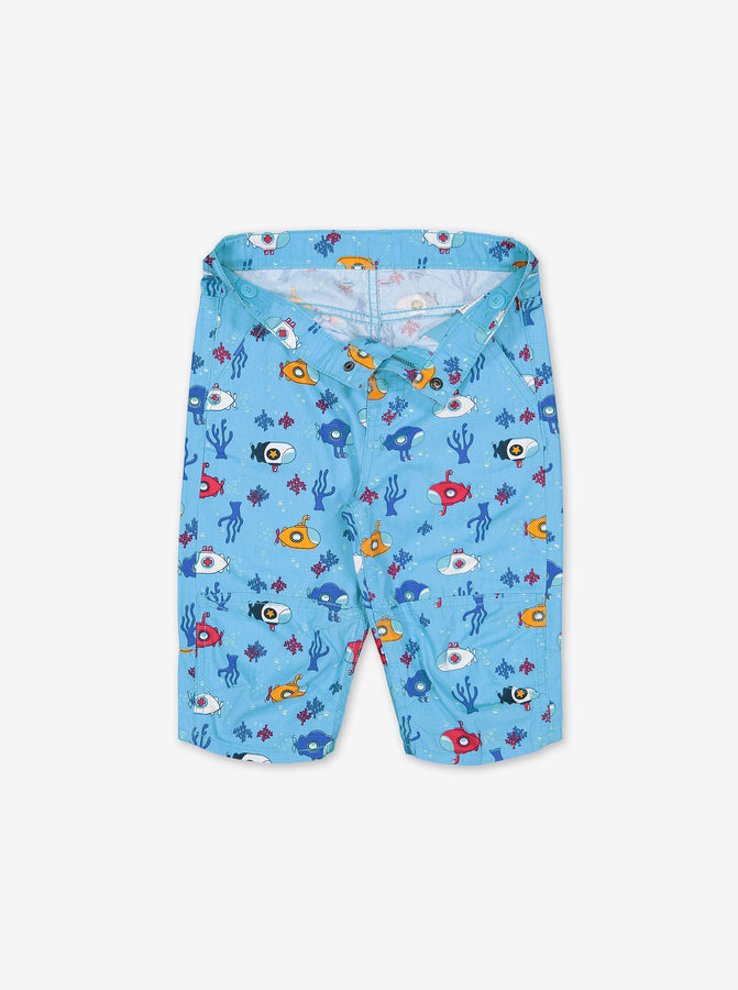 Underwater Print Kids Shorts