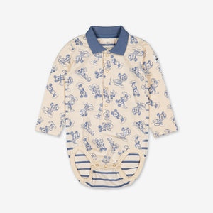 Mickey Mouse Baby Polo Bodysuit