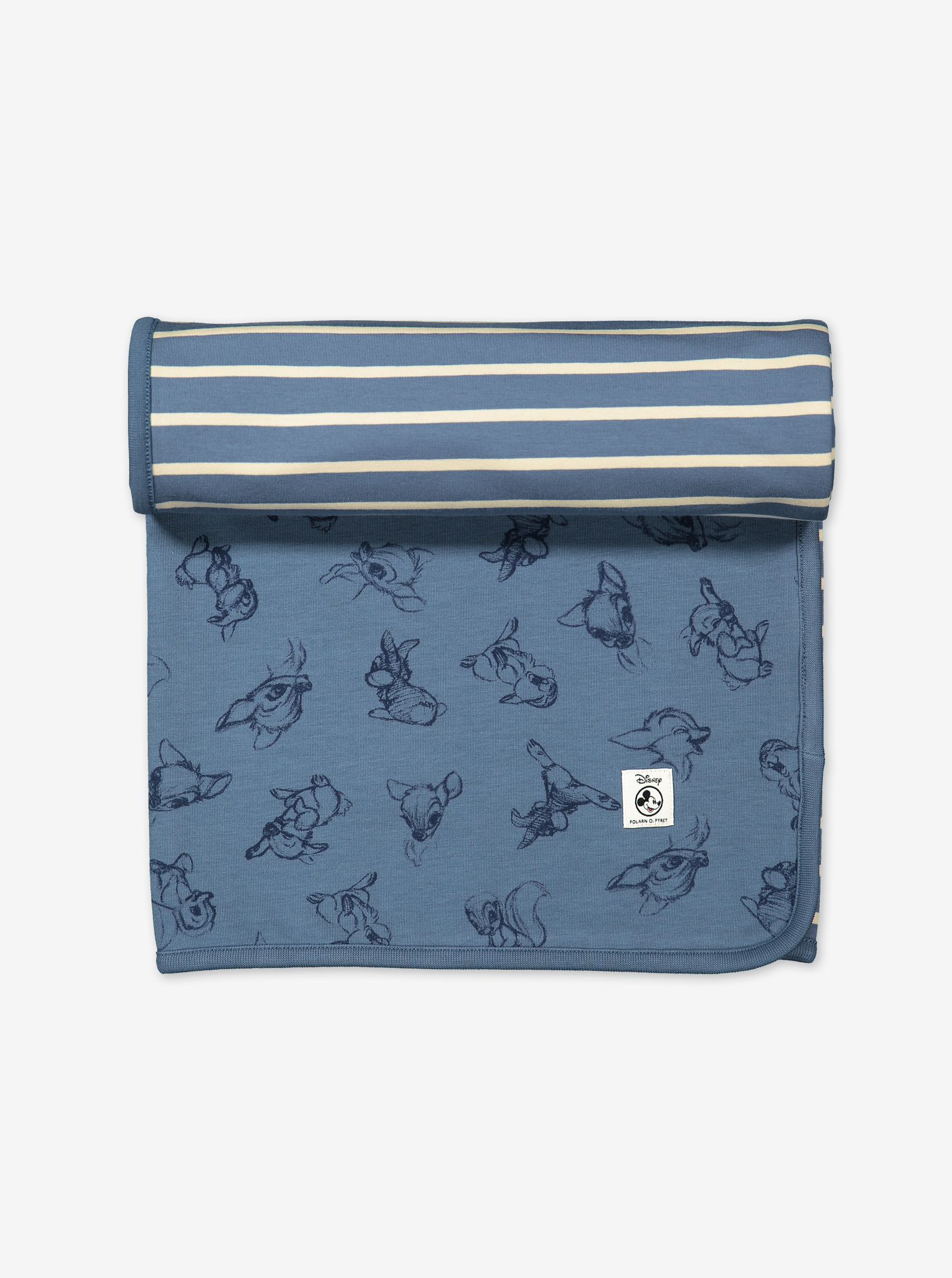 Bambi Reversible Baby Shawl/blanket-Unisex-One size-Blue