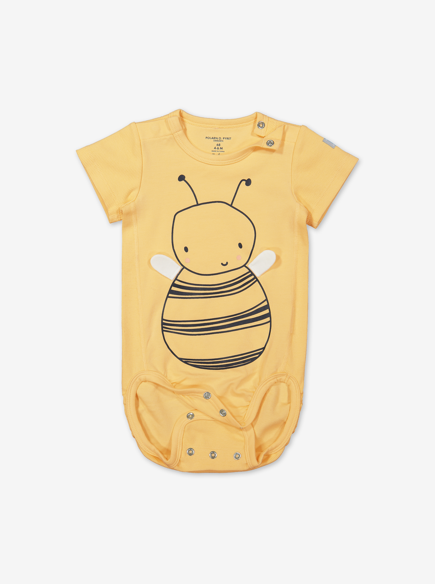 Busy Bee Baby Bodysuit-Unisex-0-1y-Yellow