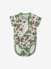 Summer Strawberry Wraparound Baby Bodysuit-Girl-0-6m-White