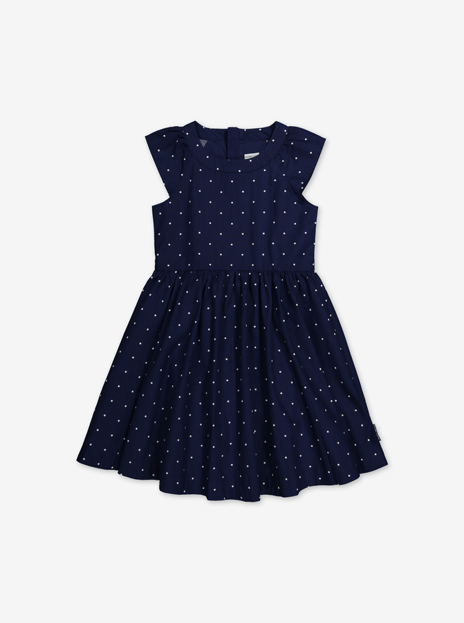 Spotted dress-Girl-1-12y-Blue