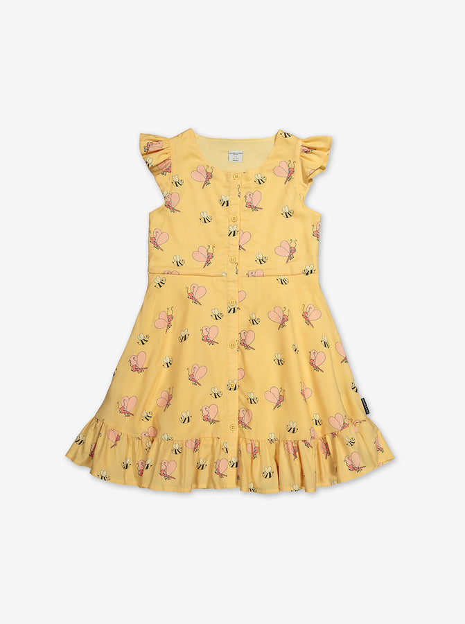 Butterflies and Bee Kids Dress
