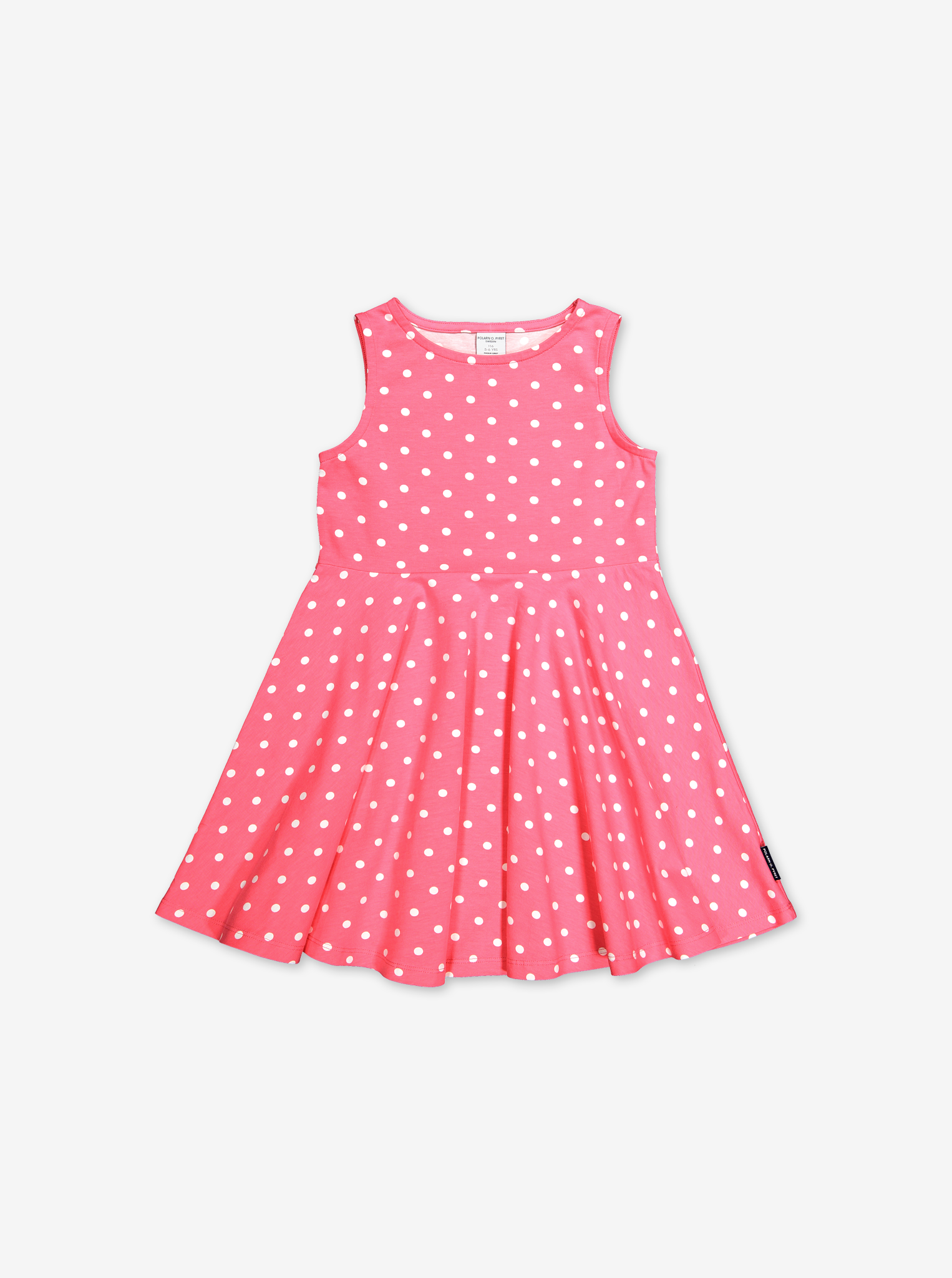 Polka Dot Kids Dress-Girl-1-6y-Pink