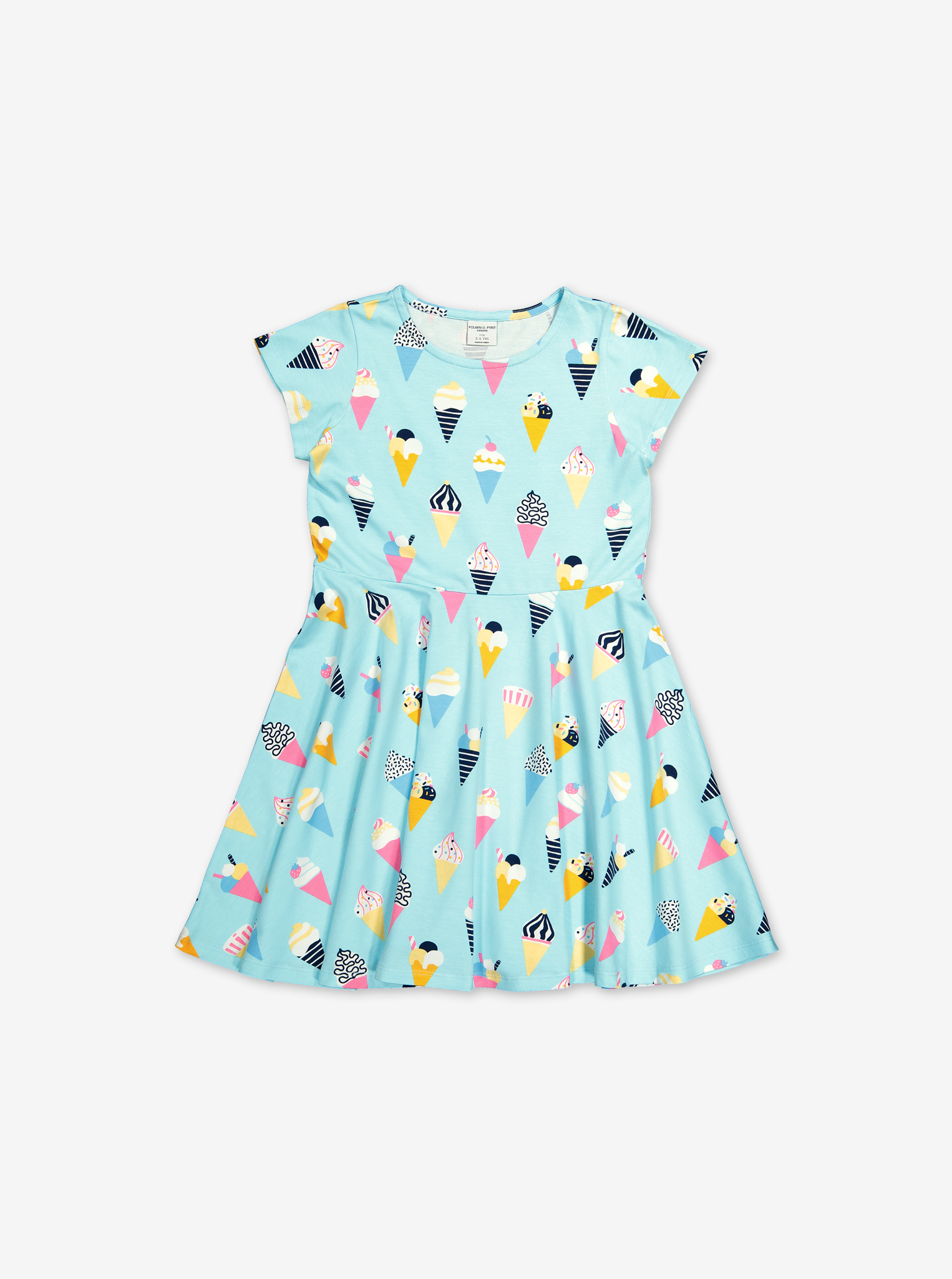 Twirl Ice Cream Dress-Girl-1-8y-Turquoise