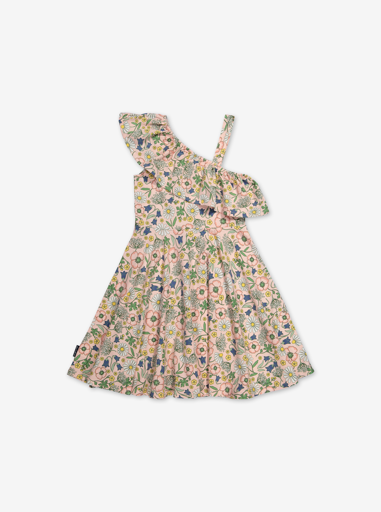 Scandi Floral Kids Dress-Girl-6-12y-Pink