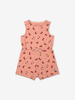 Playsuit with print for baby-Girl-0-1y-Pink