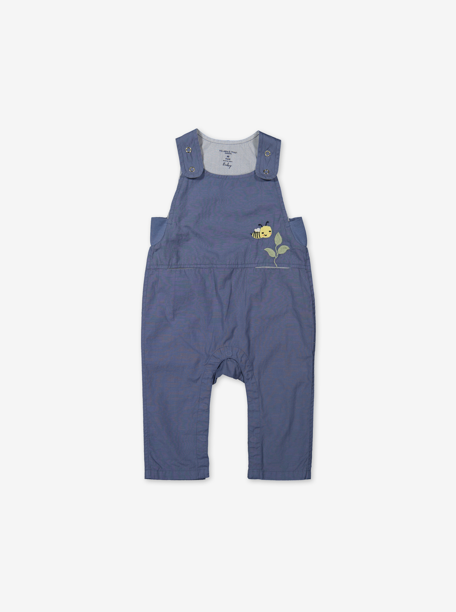Jumpsuit with embroidery for baby-Unisex-0-1y-Blue