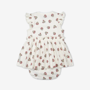 Dress with bodysuit for baby-Girl-0-1y-White
