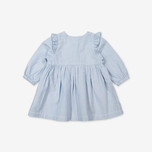Stripe dress for baby-Girl-0-1y-White