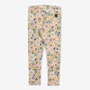 Scandi Floral Leggings-Girl-1-6y-Pink