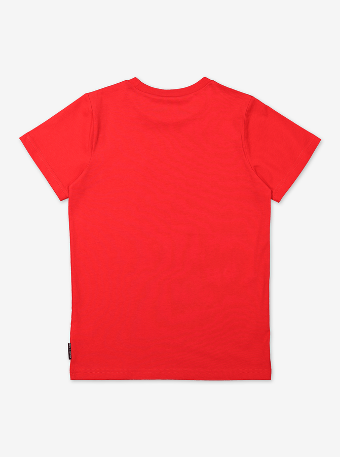 Organic Kids T-Shirt-Unisex-6-12y-Red