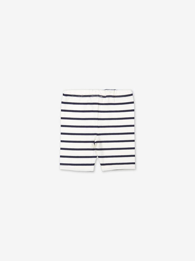 Stripe shorts for baby-Unisex-0-1y-White