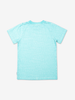 T-shirt with text print-Boy-6-12y-Turquoise