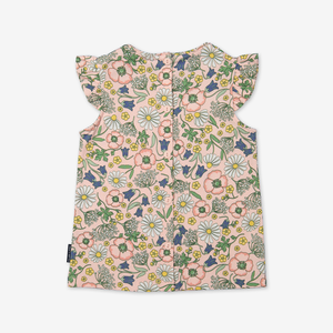 Scandi Floral Kids Top-Girl-1-6y-Pink