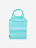 Striped Halterneck Kids Top-Girl-6-12y-Turquoise
