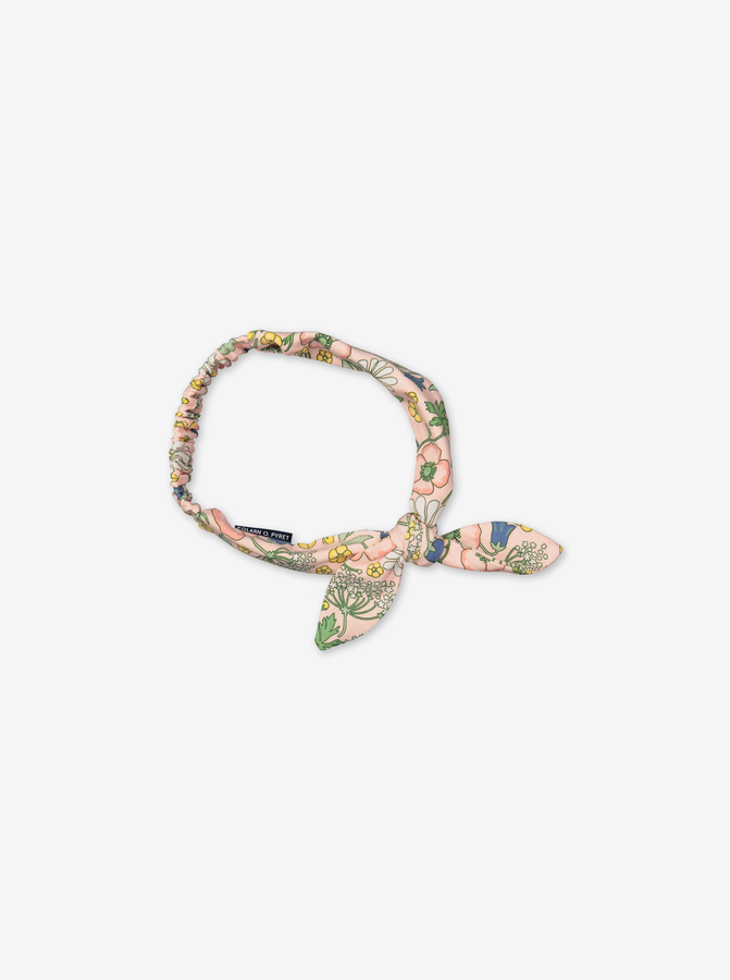 Floral headband with bow-Girl-S - M-Pink