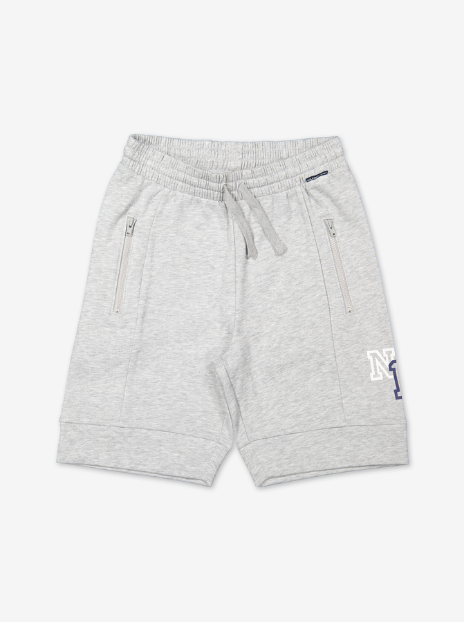 Zipped Kids Sweat Shorts-Boy-6-12y-Grey