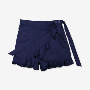 Kids Skort-Girl-6-12y-Blue