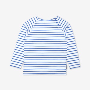 Breton Stripe Kids Top-Unisex-1-6y-Blue
