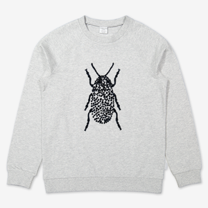 Sweatshirt with embroidery-Unisex-6-12y-Grey